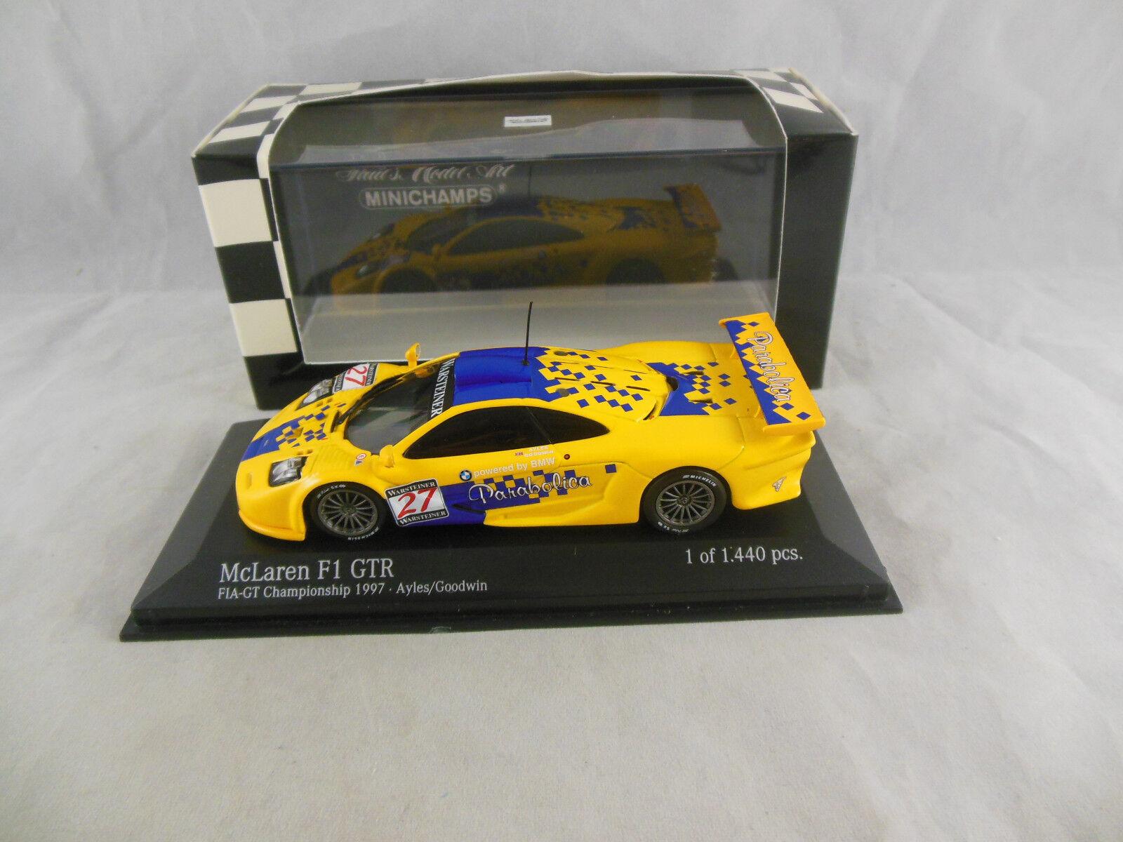 Minichamps 530 174327 Mclaren F1 GTR 1997 FIA GT Series Team Parabolica Ltd Ed.