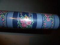 Vintage Wallpaper By Thomas Strahan Pattern 999-6032 Cabbage Roses