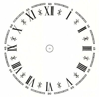 "1 Fancy Clock Face Roman Numerals 6-1//2/"" Waterslide Ceramic Decals Tx"