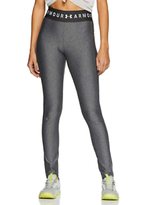 Under Armour Womens HeatGear Gym Training Full Length Tight Leggings Grey