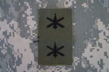 RARE US Army Air Defense Artillery Officer Branch Insignia Sew-on BDU OD Green
