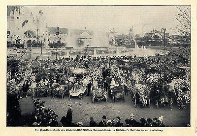 Westfälischer Automobiklub Düsseldorf Der Preisblumenkorso 1902 Reich Und PräChtig Automobilia Sammeln & Seltenes Rheinisch