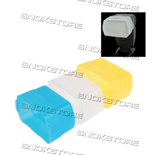 NEW COVER FLASH DIFFUSER 3 colors FOR CANON 580EX 580EXII DIFFUSORE 3 colori