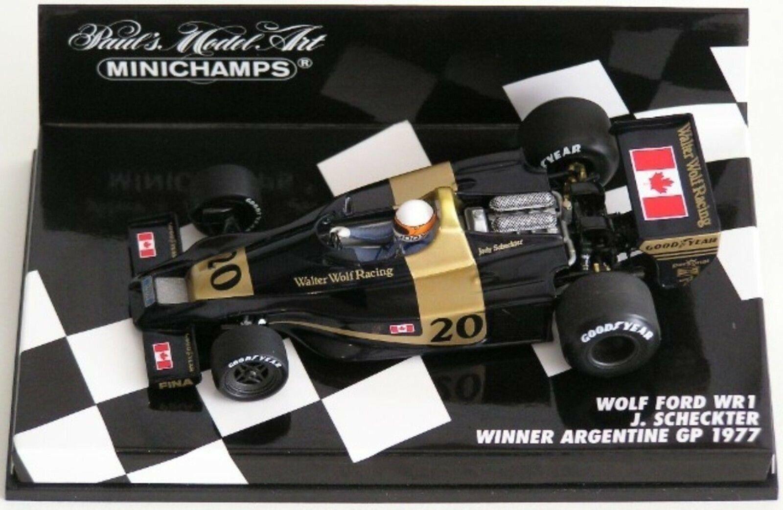 Wow extremadonnate raro Wolf WR1 Ford Scheckter ganador argentoina 1977 1 43 Minichamps