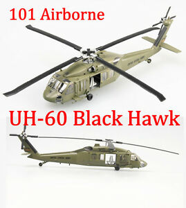 Easy Model 1/72 US UH-60 Black Hawk Midnight Bule 101 Airborne #37016