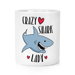 Fou-Shark-Femme-Maquillage-Brosse-Crayon-Pot-Drole