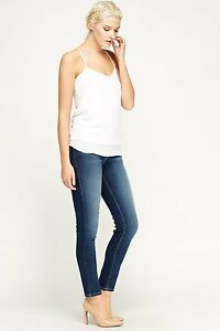 Ladies-Ex-Zara-Sand-Wash-Denim-Slim-fit-Jeans-comfortable-Trouser-Size-6-18