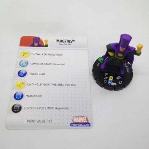 Heroclix Secret Invasion set Immortus #020 Uncommon figure w//card!