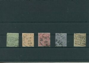 Allemagne-Ancienne-Allemagne-Ndp-Allemand-Du-Nord-Federal-Mi-7-11-Timbres-Used
