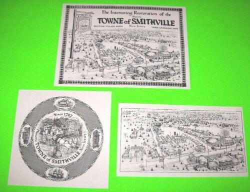 3 Different NJ Village Atlantic County Smithville New Jersey Art Print Set Of