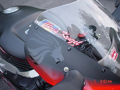 custom script windscreen decals fits all sport bikes