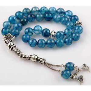 Islamıc Prayer Beads,agate akik stone turkish tasbih,Tesbih Misbaha 33 beads