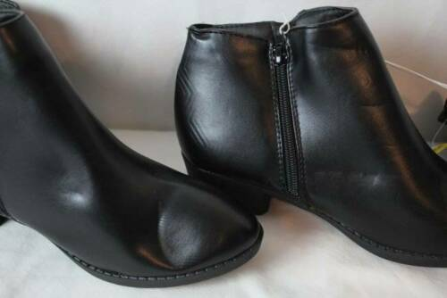 """NEW Womens Black Ankle Boots Size 8 Zip Up Ladies Fahion Shoes 1 1//4/"""" Heel"""