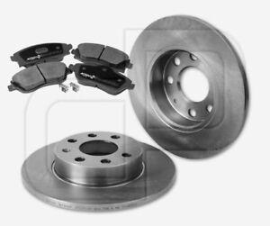 2-Bremsscheiben-und-4-Bremsbelaege-OPEL-Corsa-C-ohne-ABS-vorne-240-mm-voll