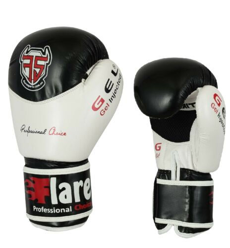Flare Boxing Gloves Muay Thai Kick Punch Bag MMA Training Mitts Fight  Leather