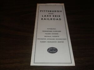 OCTOBER-1960-P-amp-LE-PITTSBURGH-amp-LAKE-ERIE-NYC-SYSTEM-PUBLIC-TIMETABLE