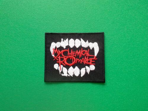 IRON ON PATCH: MY CHEMICAL ROMANCE MCR HEAVY METAL PUNK ROCK MUSIC SEW ON