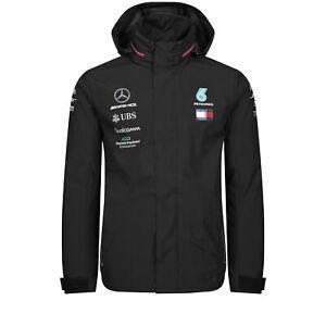 Humour 2019 Mercedes-amg F1 Team Pour Homme Veste Imperméable Manteau Lewis Hamilton Tommy Hilfiger-afficher Le Titre D'origine
