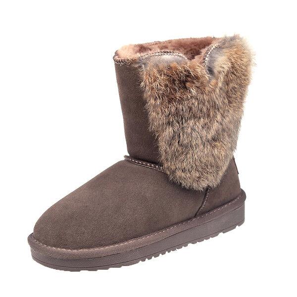 botas botas suave cómodo piel marrón 3 cm 1735
