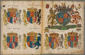 Details about ENGLISH COATS OF ARMS Directory , 1550 Facsimile
