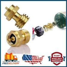 Propane Tank Adapter Hook Up 1LB Small Bottle to Gas Grill BBQ 100/% Solid Brass