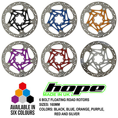 Hope 6 Bolt Mono Trial Zone Fixed Disc Rotor All Sizes Brand New