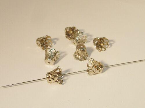 argent 7x8mm 20 pcs #z73 Perles Bouchon Capuchon Conique pour perles pendentifs