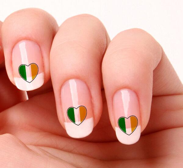 20 Nail Art Decals Transfers Stickers #708 - Irish Flag Saint Patricks Day