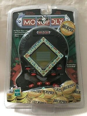 Monopoly Jackpot 1999 Hand Held Electronic GAME Hasbro Speech Sound Effects