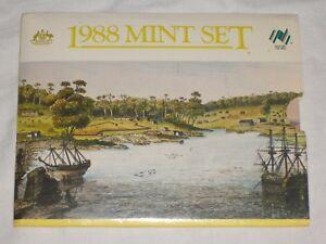 AUSTRALIEN-Muenzsatz-1988-1-Cent-2-im-original-Blister-Schuber