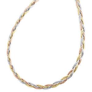 14K Solide Or Jaune Herringbone Chain Collier