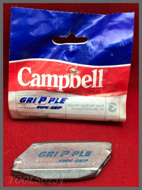 "80 kg 1//16/""  2-Pack CAMPBELL GRIPPLE ROPE GRIP # 7775409  180 lbs"