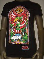 Juniors Sm Nintendo The Legend Of Zelda Wind Waker Stained Glass Tee Shirt