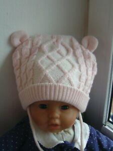 Hüte & Mützen Der GüNstigste Preis Mädchen Mütze Wintermütze Warm Und Weich Rosa Teddymütze C&a Gr 49 9-12 Monate