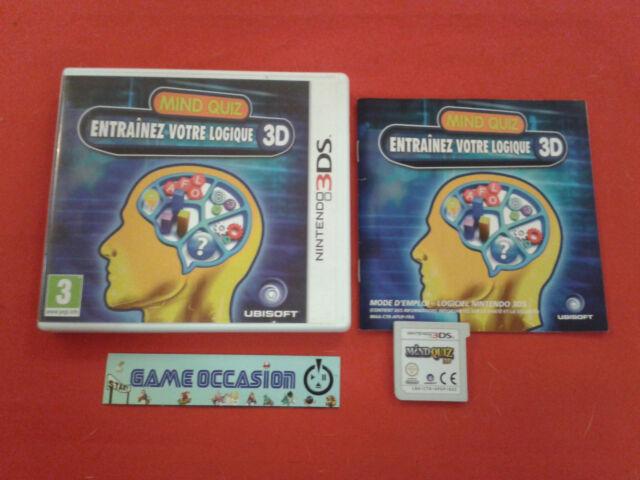 MIND QUIZ ENTRAINEZ VOTRE LOGIQUE 3D NINTENDO 3DS PAL COMPLET