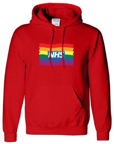 NHS Rainbow Kids Hoody Stay Safe Home Sweat shirt Love Worker Tshirt