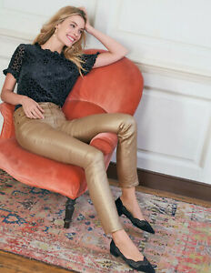 Boden-Hose-Metallic-Skinny-Jeans-Gold-NEU-UK-10-EU-36-38