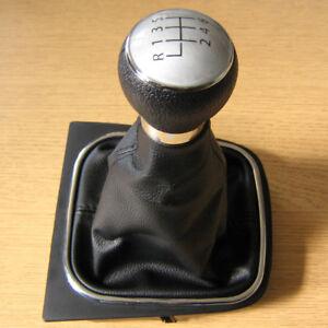 Pomo-Palanca-y-Funda-6-Velocidades-Cuero-Para-VW-Golf-V-VI-mk5-mk6-Tiguan-EOS