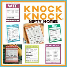 """KNOCK KNOCK Nifty Notes 50 Page Pad Express Yourself! 4"""" x 5.25"""" Buy 2 & Save!"""