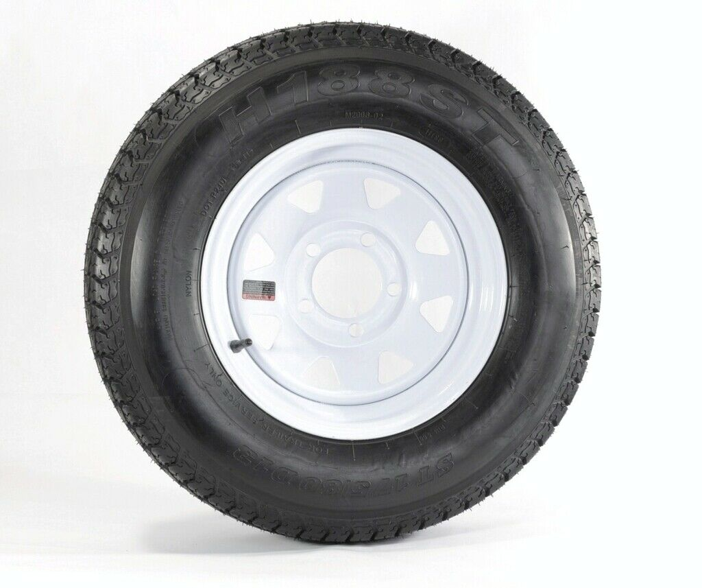 Trailer Tire On Rim Bias Ply ST175//80D13 175//80 13 LRC 5-4.5 Black Modular Wheel