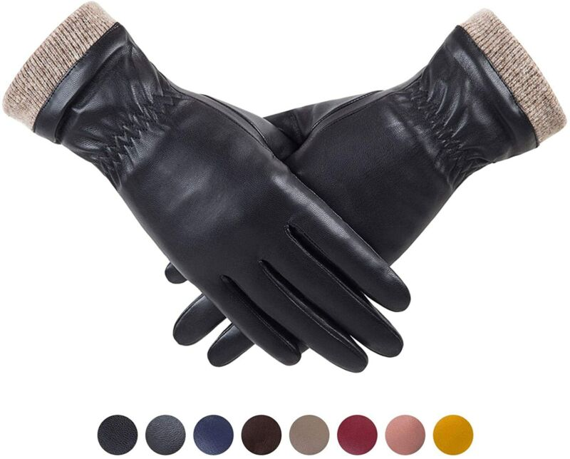 Redess Winter Leather Gloves For Women, Wool Fleece Lined Warm Gloves, Touchscre A Wide Selection Of Colours And Designs