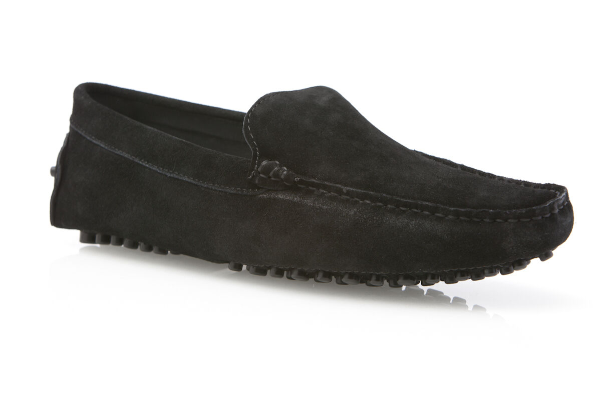 BLACK ZASEL  Herren SUEDE BOAT LEATHER CASUAL SLIP ON BOAT SUEDE DECK DRIVING LOAFERS Schuhe b8c3c6