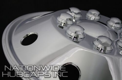 "1-16.5/"" CHROME RV MOTORHOME Dual Wheel Simulators Rim Hub Cap Covers Van Truck"