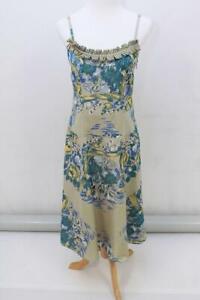 LISA-HO-Australian-DESIGNER-Ladies-SILK-Cotton-Lined-Summer-Dress-Size-AUS-8-XS