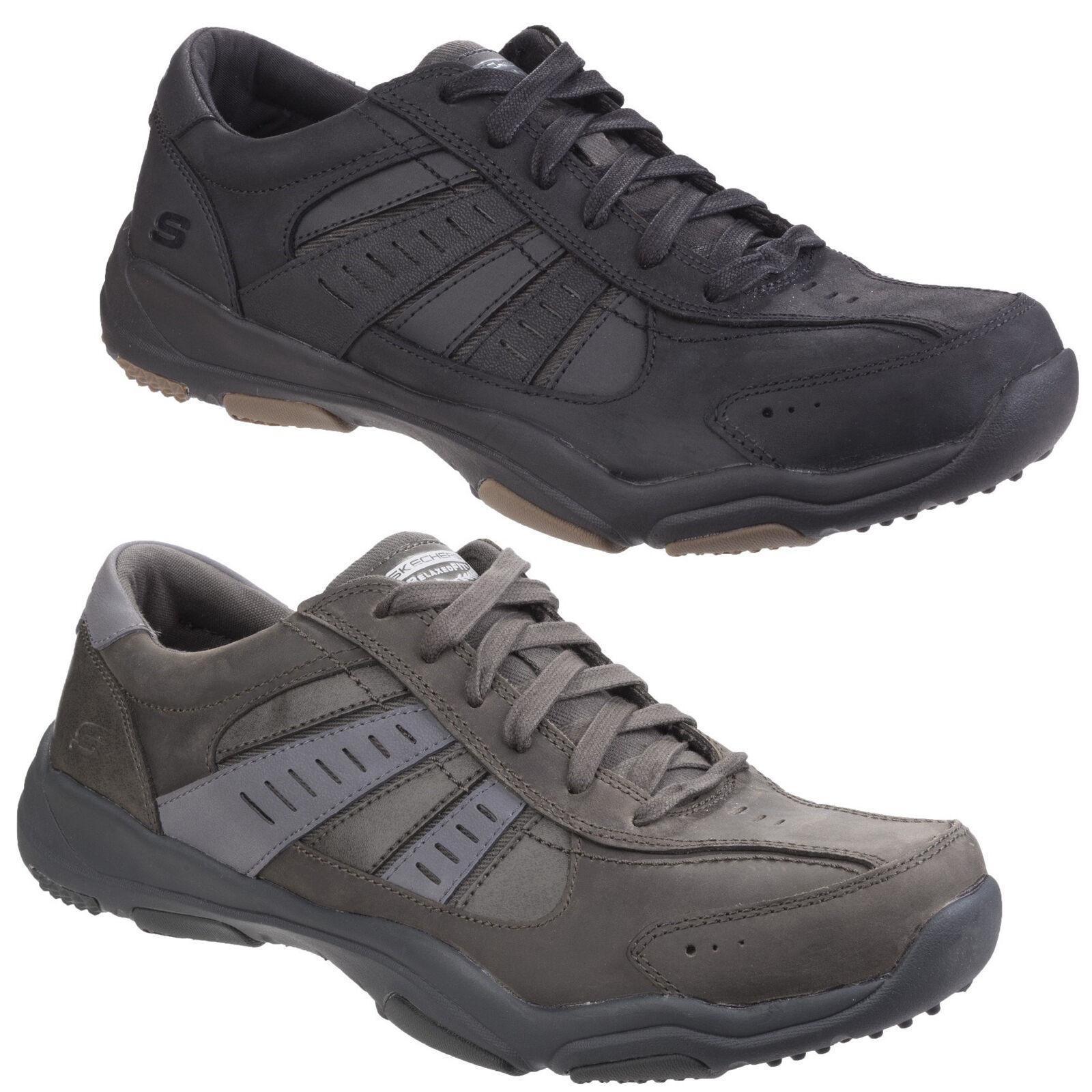Skechers Larson Nerick Memory Foam Leather Sports Mens Trainers schuhe UK6-12