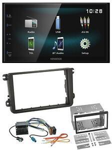 Kenwood-AUX-Bluetooth-USB-MP3-2DIN-Autoradio-fur-VW-Caddy-Golf-5-6-Jetta-ab-2003