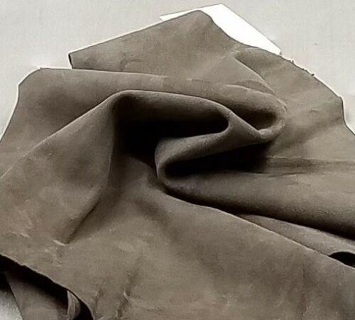 Greige Kid Suede Skin Leather Crafts Binding Lining Handbag Earrings Upholstery