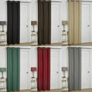 Image Is Loading EMBOSSED THERMAL EYELET DOOR CURTAIN PANEL ENERGY SAVING