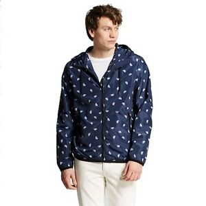 NEW With Tags Mossimo Men's Palm Print Windbreaker Jacket - Navy - Size: Large