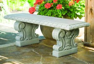 Superb Details About Verona Straight Bench Outdoor Concrete Garden Furniture Seat Creativecarmelina Interior Chair Design Creativecarmelinacom